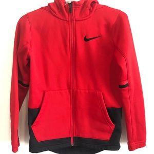 Nike Dri-Fit Therma Elite Boys Red Hoodie